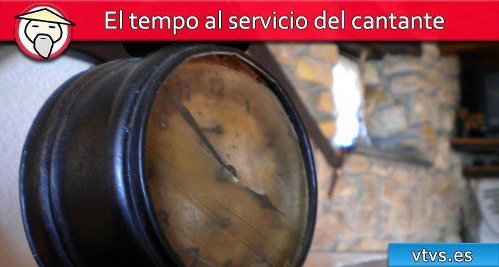 el tempo al servicio del cantante