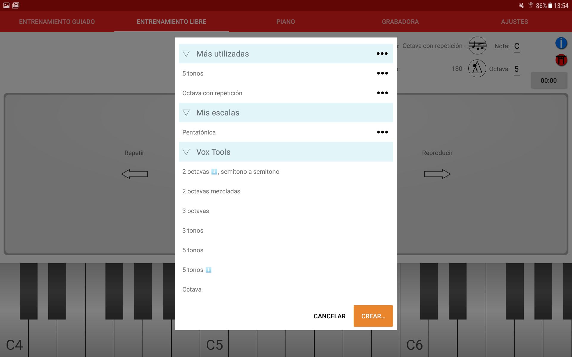 vox tools 1.4 selector de escala